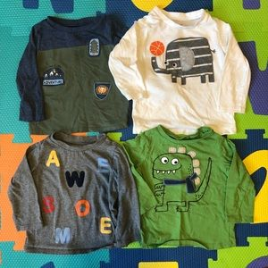 Set of 4 baby boy long sleeved Graphic T-shirts